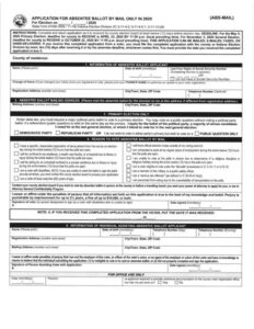 Click image to download an absentee ballot request application.