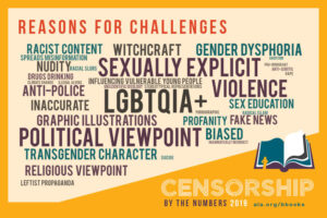 Reasons for book challenges graphic