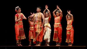 Practioners of Bharatanatyam, a sacred dance of India, from the Guru Vandana Arts Academy. Photo courtesy of Akila Iler.