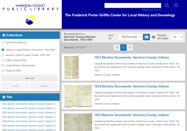 HCPL adds Harrison County Election Documents to Digital Archives