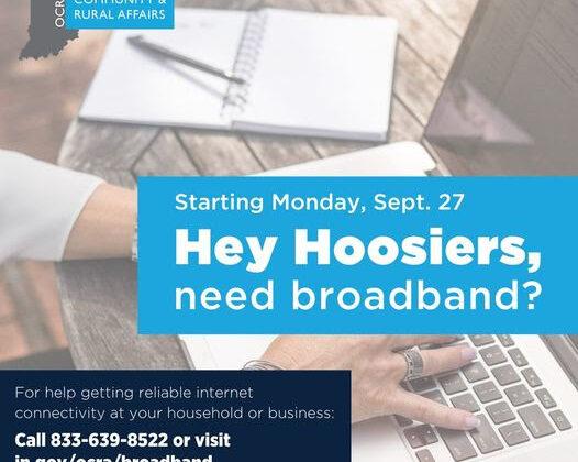 Indiana Broadband Connectivity Program Launches Monday